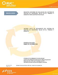 CAEX007_Informe RUC_RAMDE DE COLOMBIA S.A.S.2020